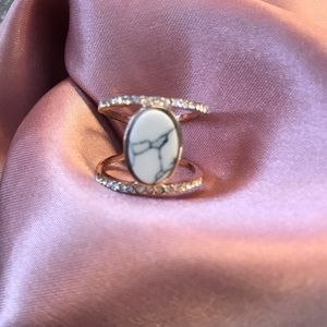 Rose Gold marble ring